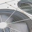 Big fan blower in rotating active in chemical factory — Stock Photo