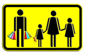 Shoping of Family icon — Stock Photo
