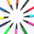 Stock Photo: Set of felt-tip pens