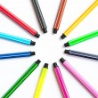 Set of felt-tip pens — Stock Photo
