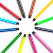Set of felt-tip pens — Stock Photo