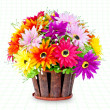 Colorful of flower pot — Foto Stock