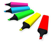 Colorful of highlighter pen — Stock Photo
