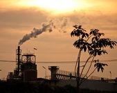 Smoke from factory — Stock Photo