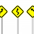 Multi yellow traffic sign — Stock Photo #9587890