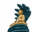 Buddha with big snake - Stockfoto