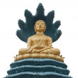 Buddha with big snake - 图库照片