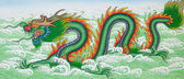 Chinese dragon art paint — Stock Photo