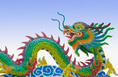 Colorful chinese dragon statue — Stock Photo