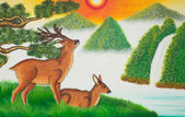 Two deer — Stock Photo