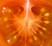 Slice of cherry tomato — Stock Photo