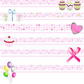 Pink banners — Stock Vector