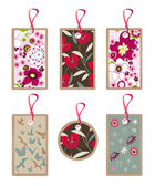 Floral tags — Stock Vector