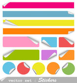 Set of blank stickers — Stock Vector