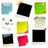 Note papier sticker postit — Stock Vector