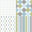 Seamless patterns, polka dots — Stock Vector #10255790