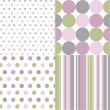 Seamless patterns, polka dots - Stock Vector