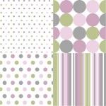 Seamless patterns, polka dots — Stock Vector #10255794