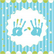 Handprint of boy - Stock Vector