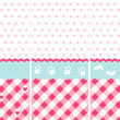 Seamless baby girl pattern — Stock Vector