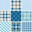 Set of plaid patterns — Stock Vector