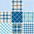 Stock Vector: Set of plaid patterns