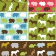 Stock Vector: Seamless natural animal pattern