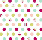 Seamless pattern, polka dot fabric, wallpaper — Stock Vector
