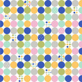 Seamless pattern, polka dot fabric, wallpaper — ストックベクタ