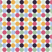 Seamless pattern, polka dot fabric, wallpaper — Vector de stock