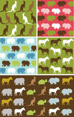 Seamless natural animal pattern — Stock Vector