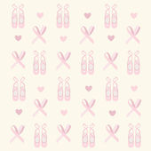 Ballerina shoes background — Stock Vector