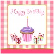 Happy birthday, greeting card — Stock Vector