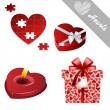Stock Vector: Hearts valentine's icons