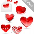 Hearts valentine's icons — Stock Vector