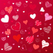 Hearts valentine's icons, wallpaper - Stockvectorbeeld