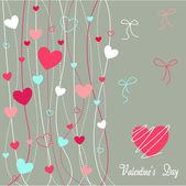 Srdce valentine ikony, tapety — Stock vektor