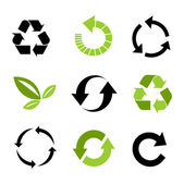 Icone ambientali — Vettoriale Stock