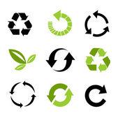 Miljömässiga ikoner — Stockvektor