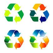Environmental recycle set — Stock Vector