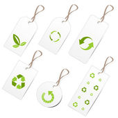 Ecology tags — Stock Vector