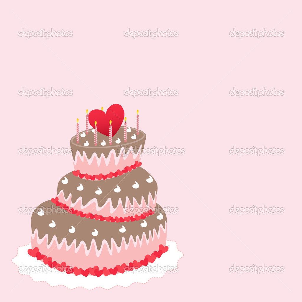 Wedding cake, valentine&#039;s day  Stock Vector #10376151