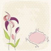 Floral greeting card — Stock Vector
