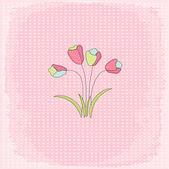 鲜花贺卡 — 图库矢量图片