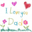 Father's Day - Image vectorielle