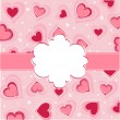 Valentine's Day card, hearts - Vettoriali Stock