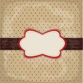 Vintage polka dot design — Stock Vector