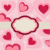 Valentine's Day card, hearts — Stock Vector