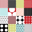Seamless patterns, polka dot set — Stock Vector #9581815