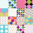 Seamless patterns, polka dot set — Stock Vector #9581817